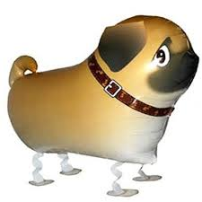 Walking Pet Dog Balloon - Pug