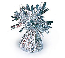 Silver Foil Balloon Bouquet Weight