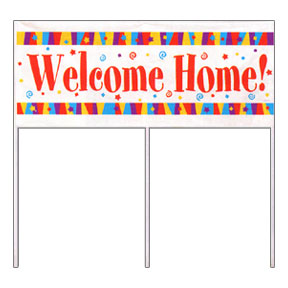 WELCOME HOME! GIANT YARD BANNER