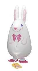 Walking Pet Animal Balloon - White Rabbit