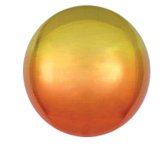 Ombre Yellow Orange ORBZ Foil Balloon