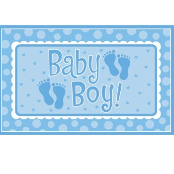 BABY BOY GIANT PARTY SIGN