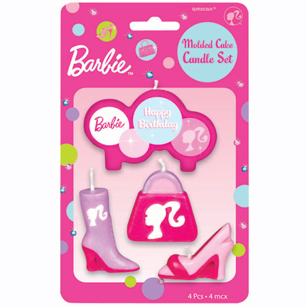 Barbie Doll Birthday Candle Set