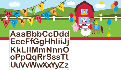 Barnyard Personalized Giant Party Banner