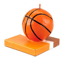 Basketball Shape Molded Candle