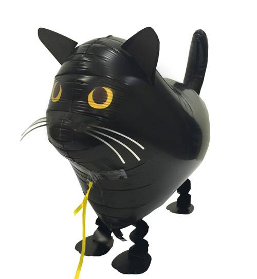 Walking Pet Animal Balloon - Cat (Black)