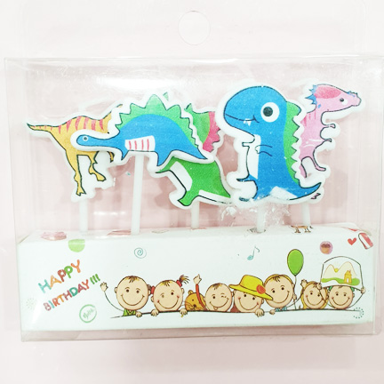 Dino and Friends Mini Candle Set