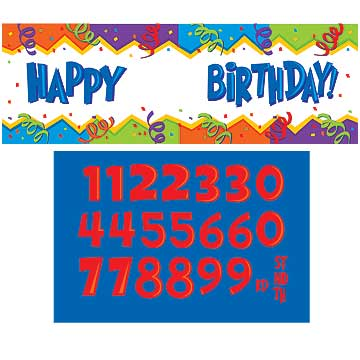 BIRTHDAY BLAST PERSONALIZE GIANT BANNER