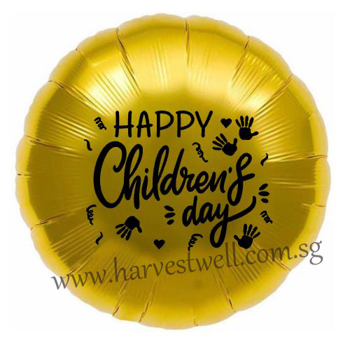"Customize Hand Print Children's Day on 18"" Foil Balloon"