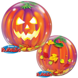 Single Bubble Jack O' Lantern Bubble Balloon