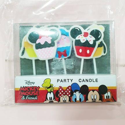 Cupcake Mickey and Friends Mini Candle Set