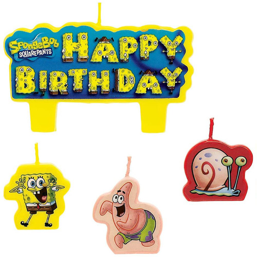 Spongebob Squarepants Birthday Candle Set