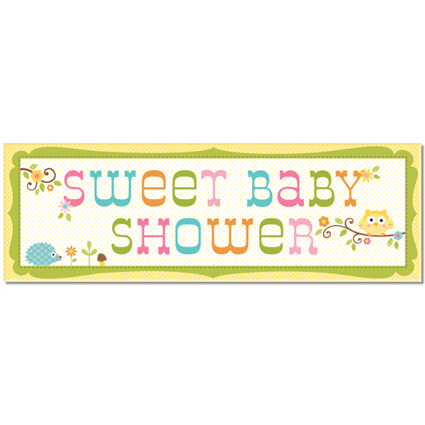 Sweet Baby Shower Giant Party Banner 97544 12 95 Harvest Well