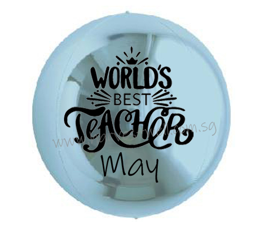 Customize World Best Teacher ORBZ Balloon