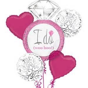 I Do Engagement Diamond Ring (Pink) Balloon Bouquet