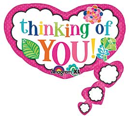 Thinking of YOU! Super Shape Mylar Balloon