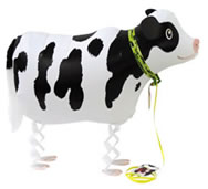 Walking Pet Farm Animal Balloon - Cow